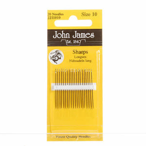 Sharps Hand Needles, size 10