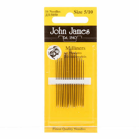 Milliners / Straws Needles, assorted sizes 5-10 JJ15050