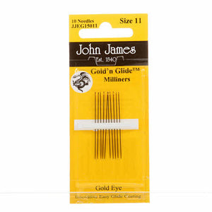 Milliners / Straw Gold'N Glide Needles, size 11 - JJEG150 11