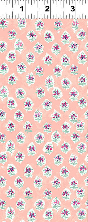 Elephant's Garden - Small Floral (TOSSS) in Light Coral - Y2409-38