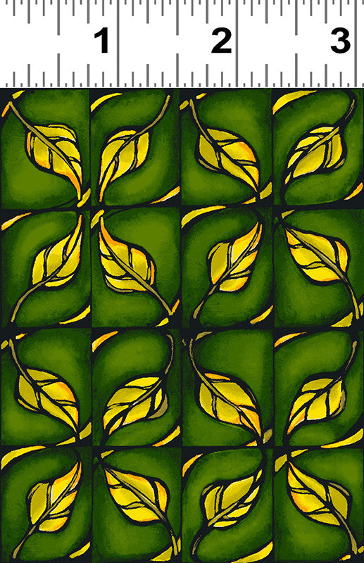 Follow the Sun - Leaves in Yellow/Green - Y2506-25