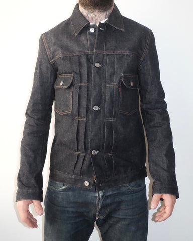 post soak tcb type 2 jacket japanese selvedge denim jacket