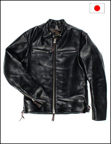 Iron Heart IHJ-35 Black Japanese Horsehide Rider's Jacket