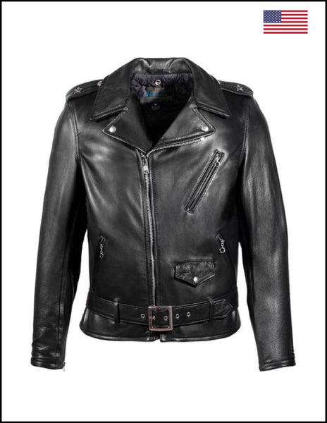 Schott NYC. 519 Black Leather Jacket