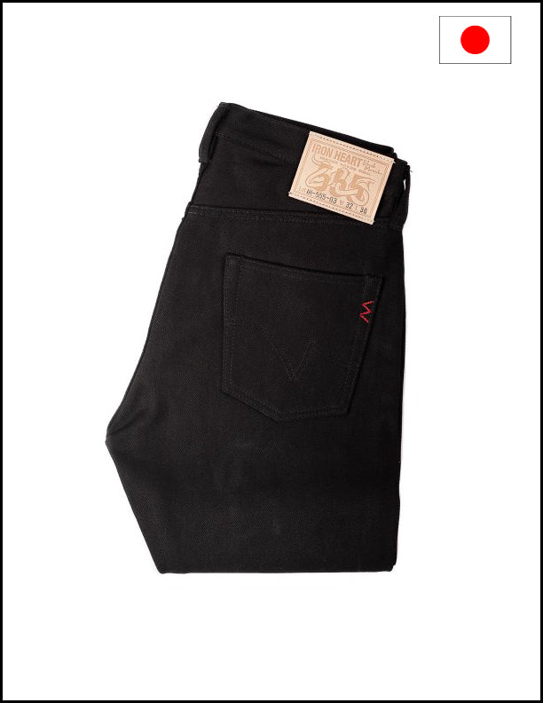 Iron Heart IH-555-03 21oz Selvedge Denim Super Slim Jeans - Superblack (Fades To Grey)