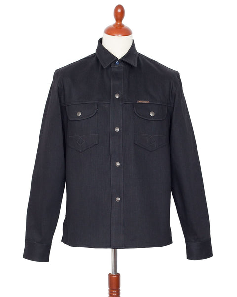 Indigofera Copeland Gunpowder Black Japanese Selvedge Denim Shirt