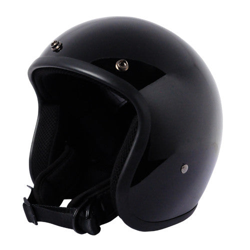 Classic Super Low Profile 3/4 Helmet Gloss Black