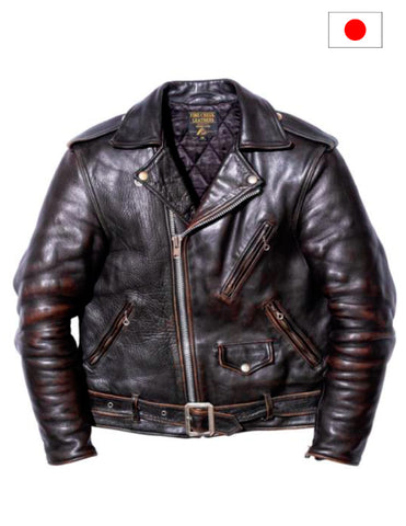 Fine Creek Leathers Leon No Star Japanese Horse Hide Leather Jacket