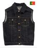 Eat Dust 673 Indigo Japanese Selvedge Denim Vest