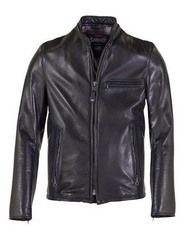 Schott NYC. 530 Black Leather Jacket