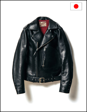 Y'2 Leather Y2-02 1930's Horse Double Motorcycle Jacket