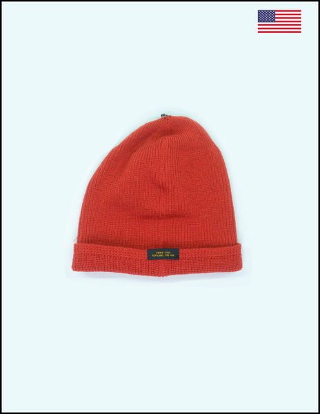Dehen 1920 Wool Knit Watch Cap Burnt Red