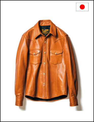 Y'2 Leather SS-13 Street Oil Western Shirt Camel