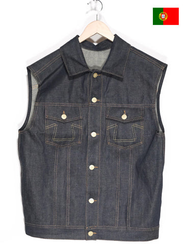 The Shop Vancouver Eat Dust Japanese Selvedge Denim Vest Premium Motorcycle Culture Mens Clothing