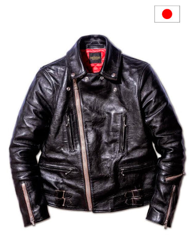 Fine Creek Leathers Edward Japanese Horse Hide Leather Jacket