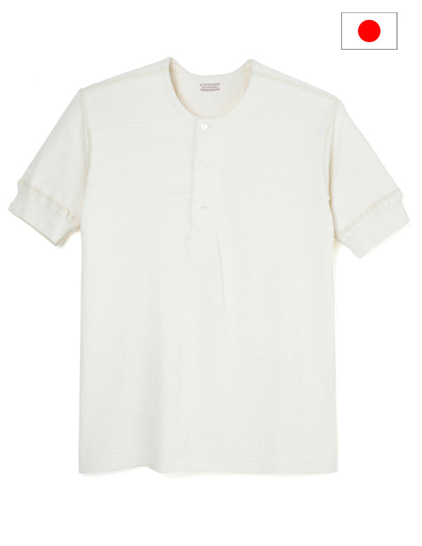 Stevenson Overall Co. Loop Wheel Short Sleeve Henley