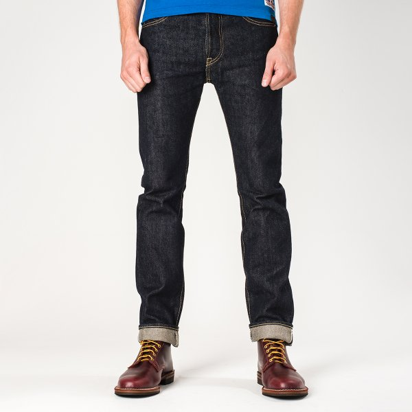 Iron Heart IH-555-01 Indigo 21oz Selvedge Denim Super Slim