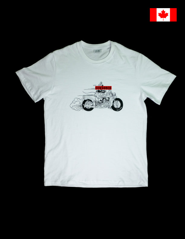 The Shop Vancouver Little Knuck Riders T shirt White