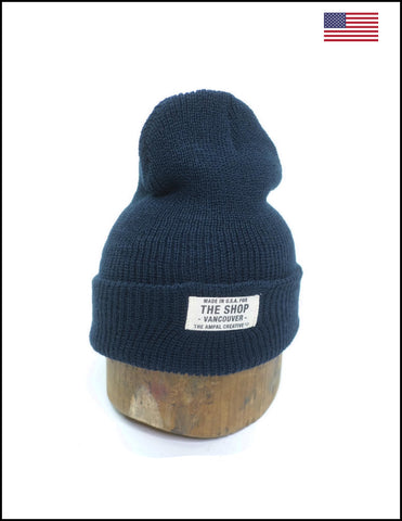 Eat Dust Sailor Merino Wool Beanie Navy