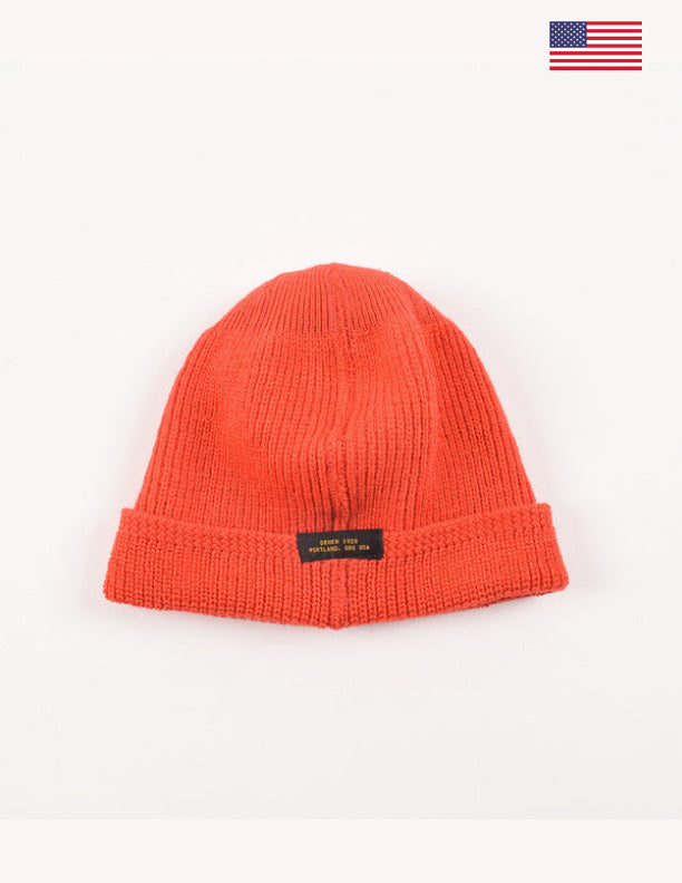 Dehen 1920 Wool Knit Watch Cap Cousteau Orange