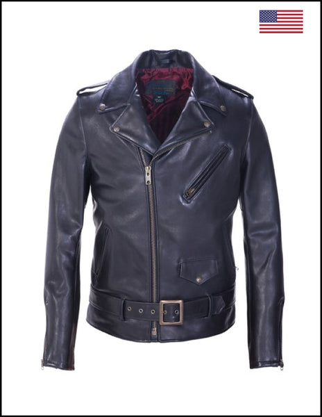 Schott NYC. Per22 Black Leather Jacket