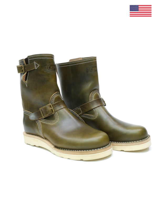 Wesco X The Shop Short Stack Olive Boss Engineer Boot
