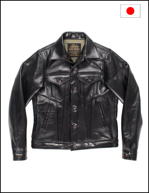 Iron Heart IHJ-64 Horsehide Modified Type III Jacket - Black