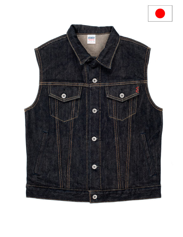 Iron Heart IH-526SV Indigo 21oz Selvedge Denim Vest