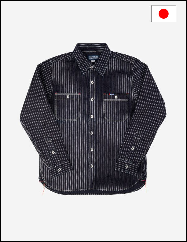 Iron Heart IHSH-68 12oz Indigo Wabash Work Shirt
