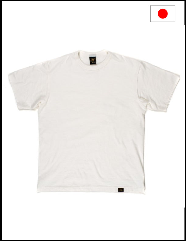 Iron Heart IHT-1610S-WHT 6.5oz Loopwheel Crew Neck T-Shirt - White