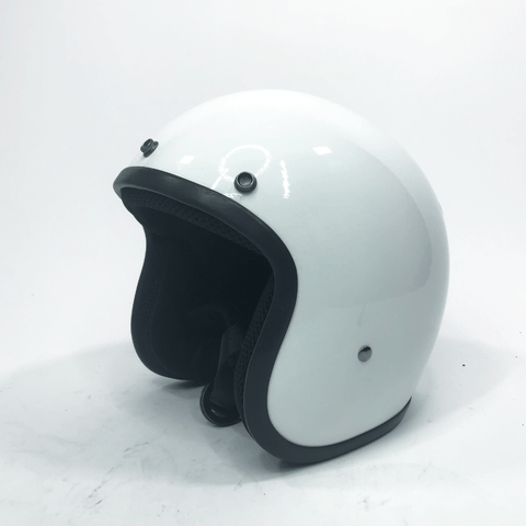 Classic Super Low Profile 3/4 Helmet Gloss White