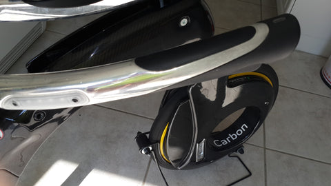 Used Carbon YIKEBIKE with WHITE Frontal Rim