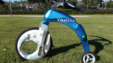 YikeBike Carbon Blue Matte with Urban CAMO