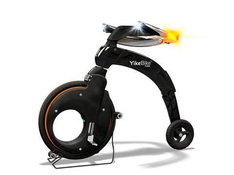 YikeBike Fusion Black with Orange Rim