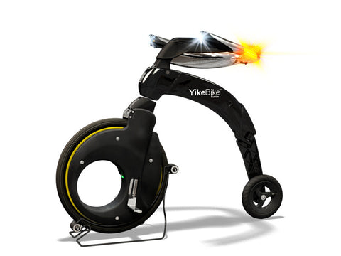 YikeBike Fusion Black with Yellow Rim