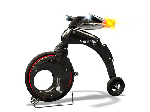 YikeBike Carbon with Red Rim