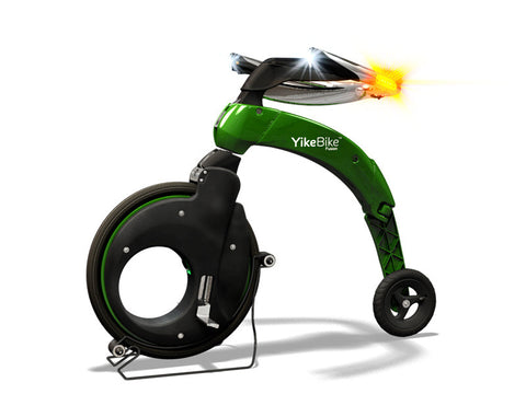 YikeBike Fusion Entire GREEN (Body & Rim)