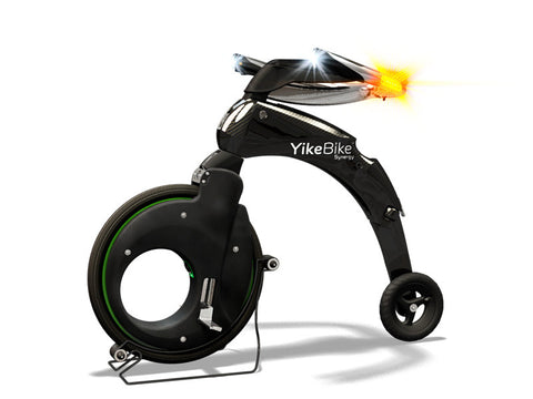 YikeBike Synergy With GREEN Rim