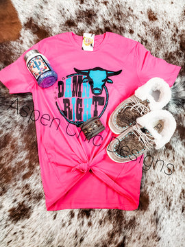 Pink Ropin Graphic Tee