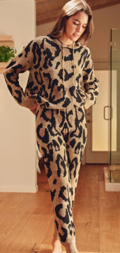 Leopard 9 to 5 At Home Lounge Set Bottoms