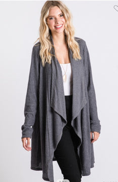 Emerson Cardigan - Charcoal