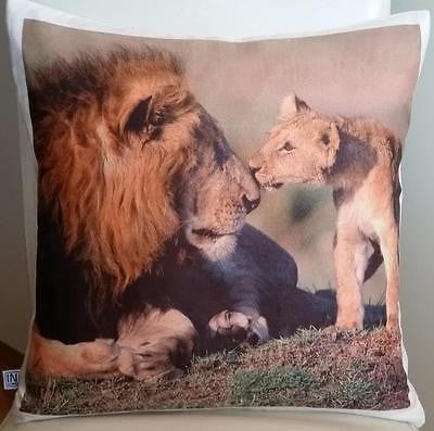 Lion pillow cover very soft material washable FILLING NOT INCLUDED - Art & Text