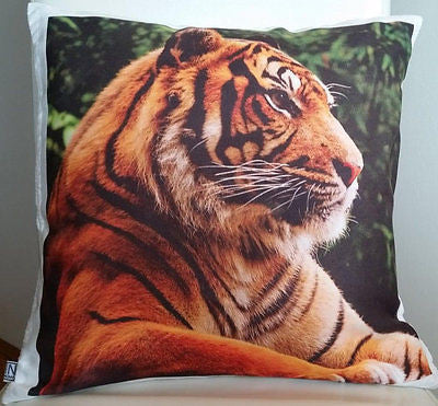 Tiger2 pillow cover very soft material washable FILLING NOT INCLUDED - Art & Text