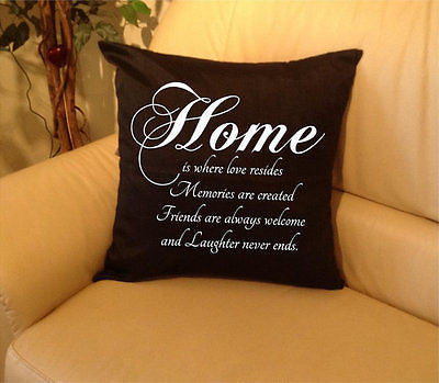 Home  Pillow cover Polyester, Square - Art & Text