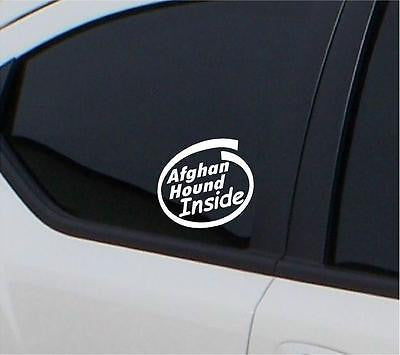 2x Afghan Hound inside stickers car decal - Art & Text
