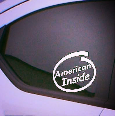 2 x American Inside car stickers car decal - Art & Text