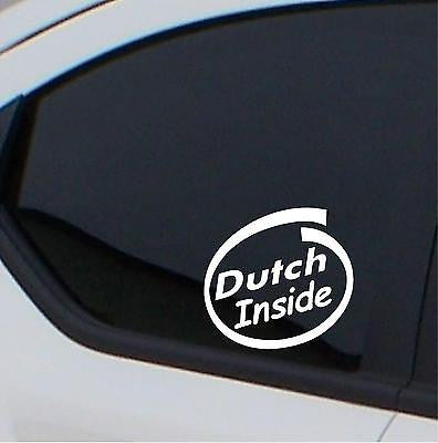 2 x Dutch Inside car stickers car decal - Art & Text