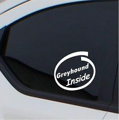 2 x Greyhound  inside stickers car decal - Art & Text