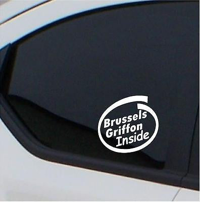 2x Brussels Griffon    Inside  stickers car decal - Art & Text