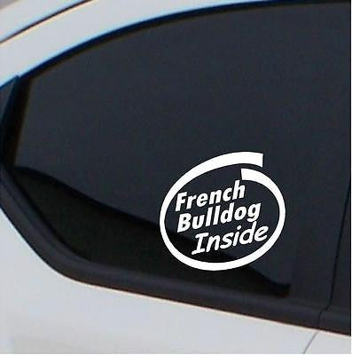 2x French Bulldog  Inside car decal free shipping - Art & Text